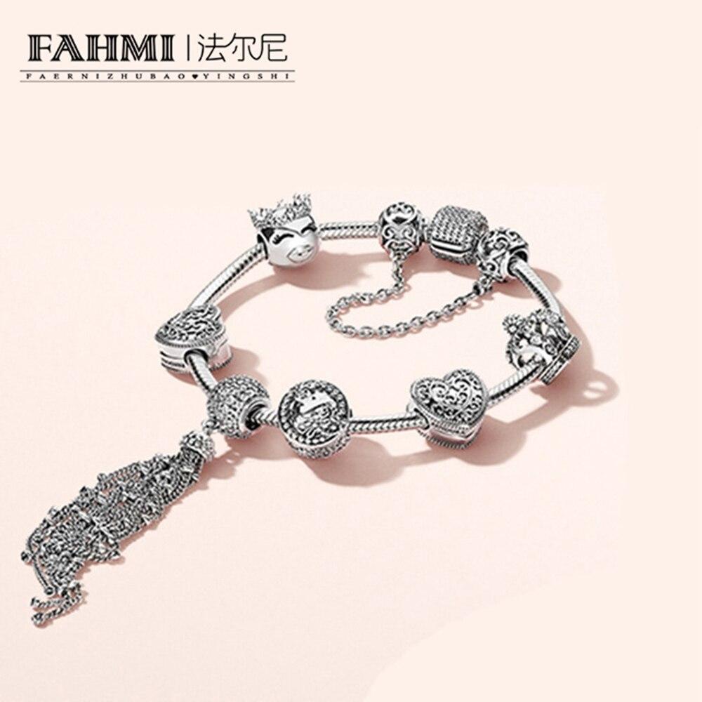 FAHMI 100% 925 argent Sterling nouveau 1:1 véritable princesse naturel Bracelet magique ensemble élégant charme amoureux bijoux