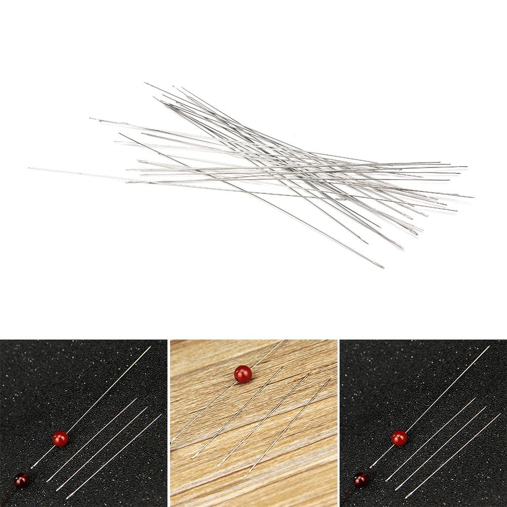 30pcs/lot Big Eye Curved Beading Needles For Bracelet Necklace Stringing DIY 0.6x120mm
