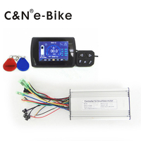 New Style High Tech DC 12v TFT Display Lcd Color Monitor With Brushless Electric Bike Controller