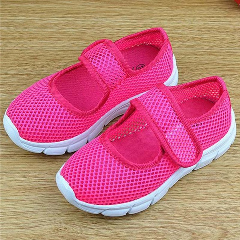 Girls Sneakers Summer Breathable Mesh Children Candy Color Shoes Single Net Cloth Kids Sports Shoes Casual Boys Shoes