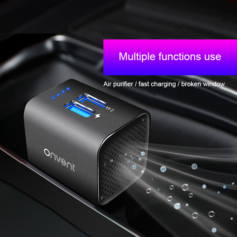 MWdao Car Air Purifier Vehicle Air Ionizer Negative Ion Ozone Ozonizer Odor Eliminator Usb For Car
