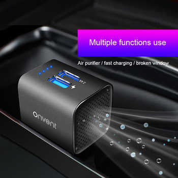 MWdao car air purifier vehicle air ionizer negative ion ozone ozonizer odor eliminator usb for car - DISCOUNT ITEM  40% OFF All Category