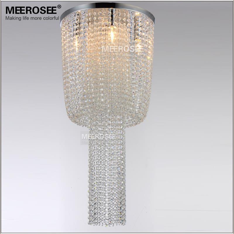 Long Size Crystal Light Fixture French Empire Chandelier Lustre Light Bedroom Aisle Porch Lamp Hallway Crystal Lustre Lighting