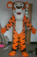 ohlees hot sale hight quality Real Pictures Deluxe Tiger Mascot Costume Halloween Party Fancy dress factory direct shipping EMS
