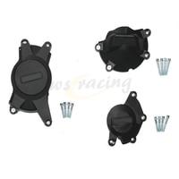 Motorcycle Black Engine Cover Protection Case Set Kit For SUZUKI GSXR1000 GSXR 1000 2009 2015 09