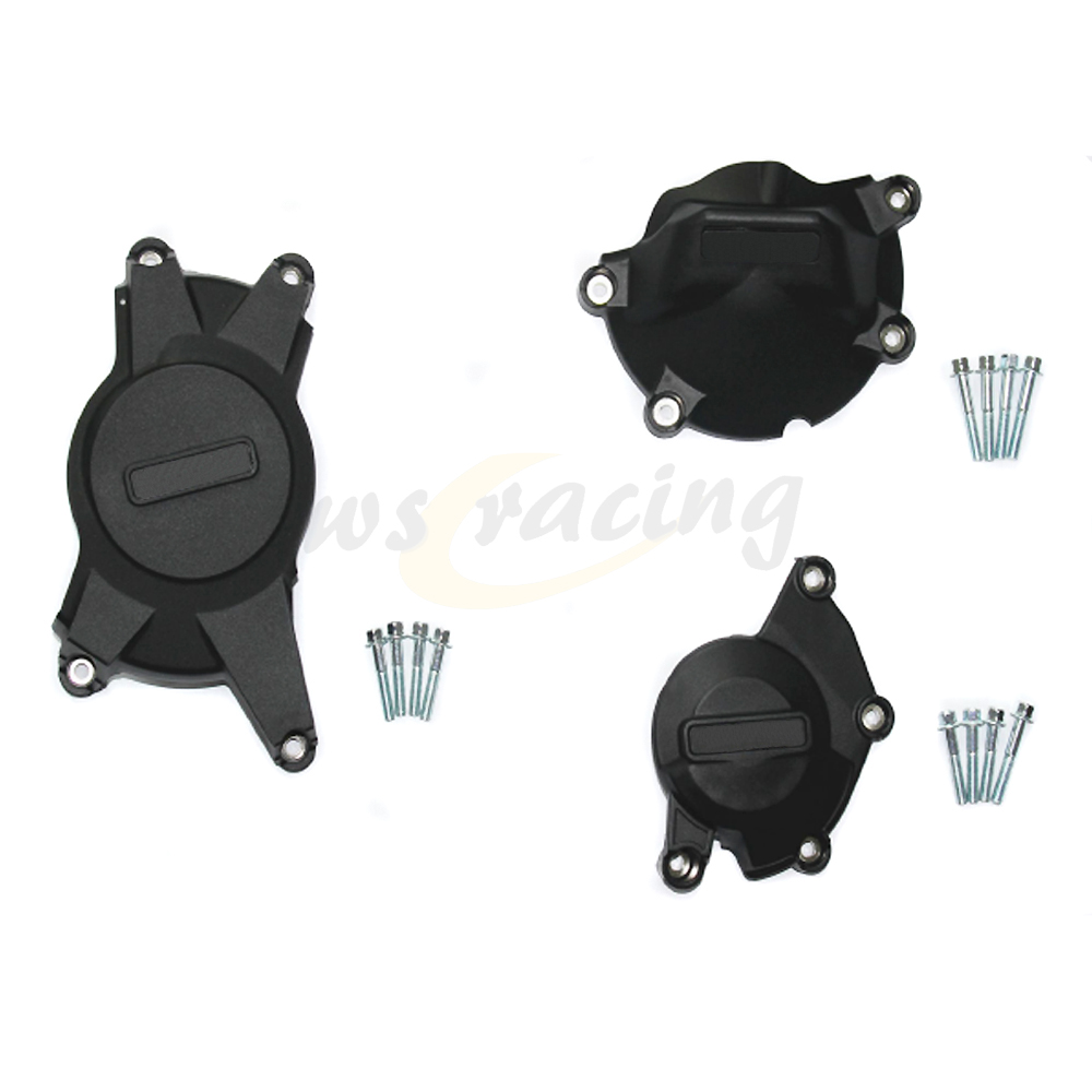 Motorcycle Black Engine Cover Protection Case Set Kit For SUZUKI GSXR1000 GSXR 1000 2009-2015 09 10 11 12 13 14 15