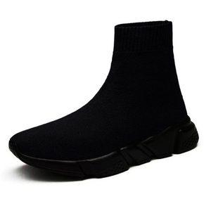 Image 4 - Hundunsnake High Top Mens Sports Shoes Socks Sneakers Man Running Shoes For Men Women Sport Shoes Male Black Krasofki Gym A 199