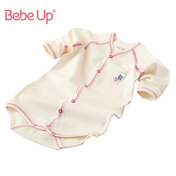 Одежда для маленьких девочек и мальчиков; боди с длинными рукавами из органического хлопка для младенцев; коллекция года; сезон весна-лето; Повседневная белая одежда-унисекс для младенцев