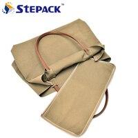 Minimalist Large Capacity Portable Shoulder Bag Casual Canvas Package Vogue Simple Design Single Litchi Grain Laptop
