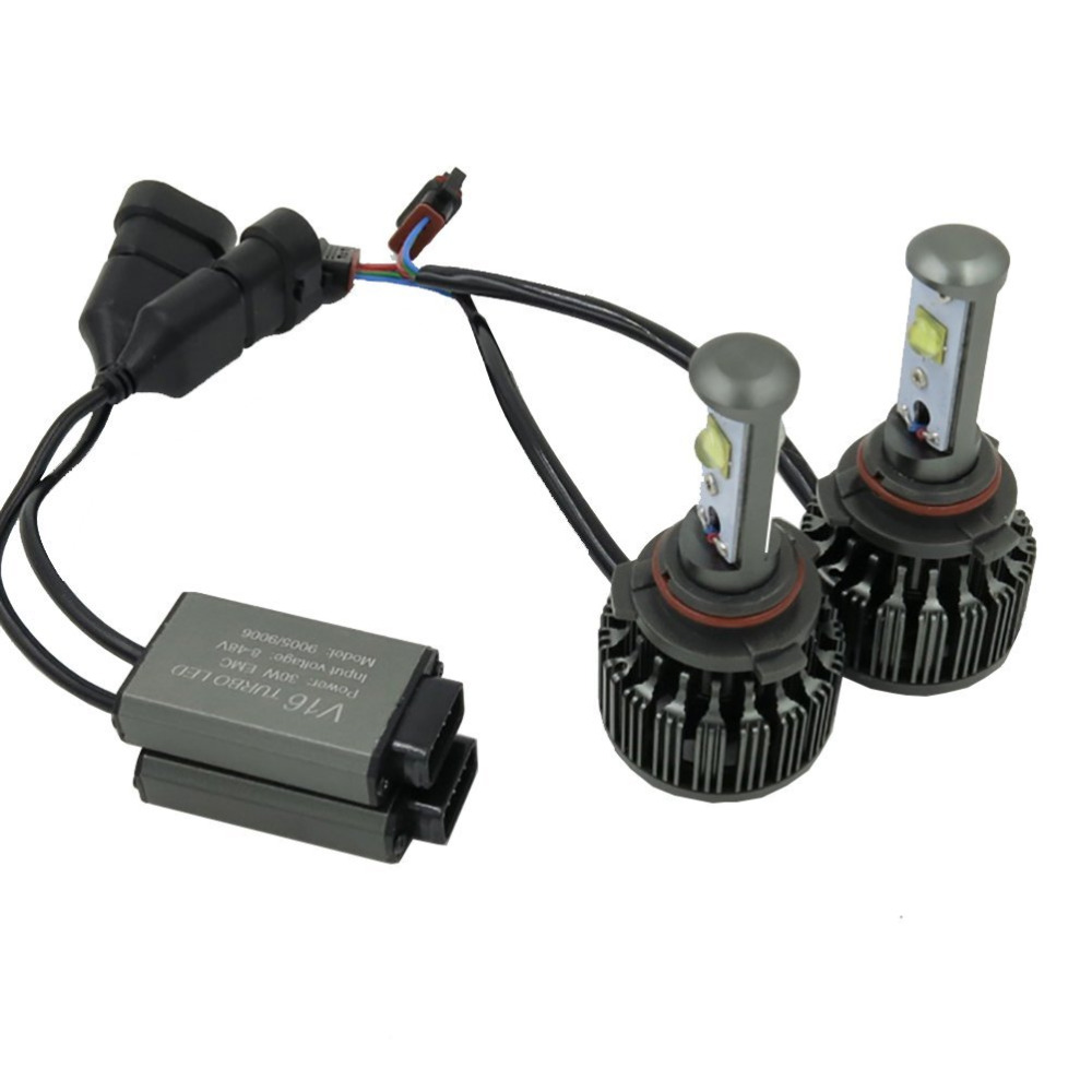 1Pair Super Bright HB3 9005 HB4 9006 H10 9145 LED Car Headlight Bulbs All-in-One Conversion Kit 7200Lm 60W 6000K Cool White