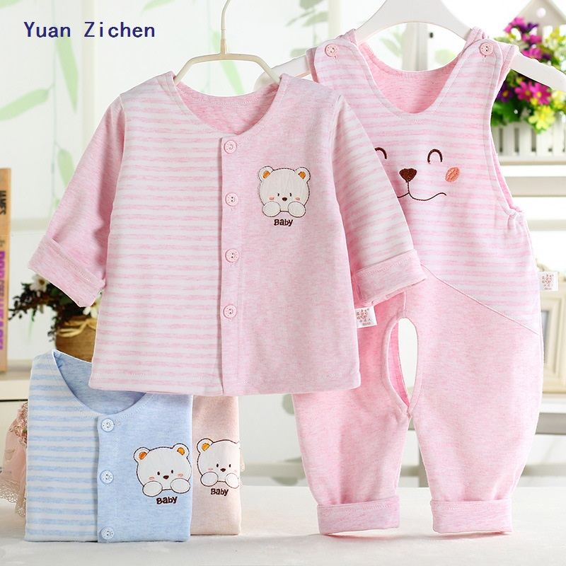Newborn Infant Winter Rompers 2017 Cute Toddler Baby Girl Boy Cute Animal Sleeveless Jumpers+Coat Playsuit Outfits Clothes 0-12M