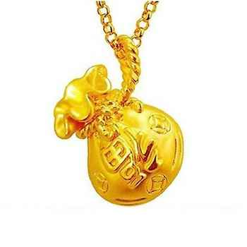 New Arrival Pure 999 24K Yellow Gold Women  3D Bag Pendant 0.5-0.7g Very Small - DISCOUNT ITEM  0% OFF All Category