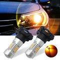 2 UNIDS 21-SMD PY24W Alta Potencia Ámbar/Amarillo LED Bombillas Para BMW Luces Direccionales Delanteras