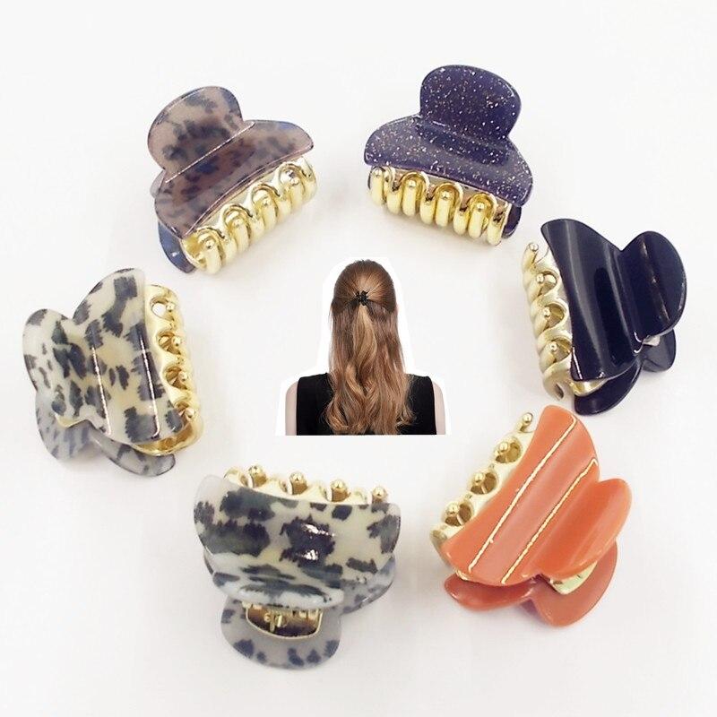 3PC Fashion Women hair accessories hairpins Crab Retro Mini Butterfly hair claw clip Headband for Lady Girls 2017 Hot Sale