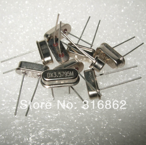 3.5795MHZ 3.579MHZ 3.579 Passive DIP crystal oscillator HC-49S 50PCS/LOT Free Shipping Electronic Components kit