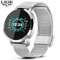 LIGE 2019 New Smart Watch Men Women OLED Screen Heart Rate Monitor Blood  Pressure Fitness tracker Sport Watch Smart bracelet