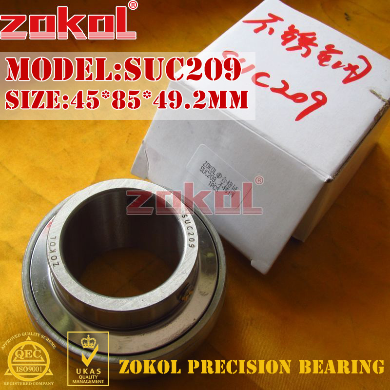 ZOKOL bearing UC209 SUC209 90509 Stainless steel Pillow Block Ball Bearing 45*85*49.2mm zokol bearing uc209 suc209 90509 stainless steel pillow block ball bearing 45 85 49 2mm