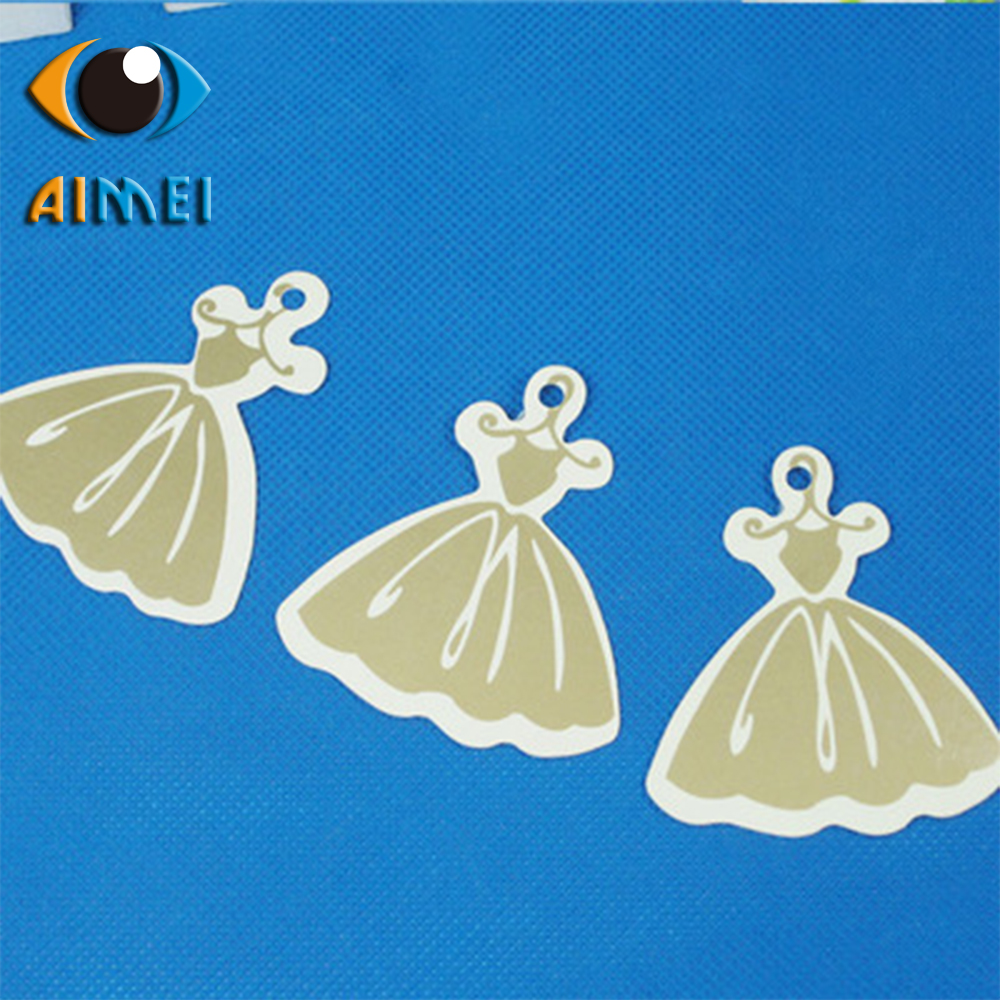 Spot direct high-end womens skirt tag special-shaped clothing tag can be printed with LOGO sample made