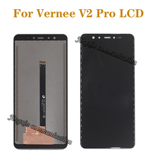 5.99 Original display for VERNEE V2 PRO LCD display + touch screen digitizer assembly for V2PRO mobile screen repair kit new and original touch screen for ns5 mq00 v2