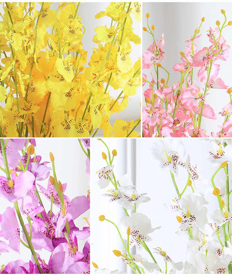 الخيال 97 سنتيمتر وهمية بساتين الفاكهة الزهور الاصطناعية الحرير Orchidea النباتات اليدوية طويلة كاذبة زهرة للمنزل ديكور حفلات الزواج