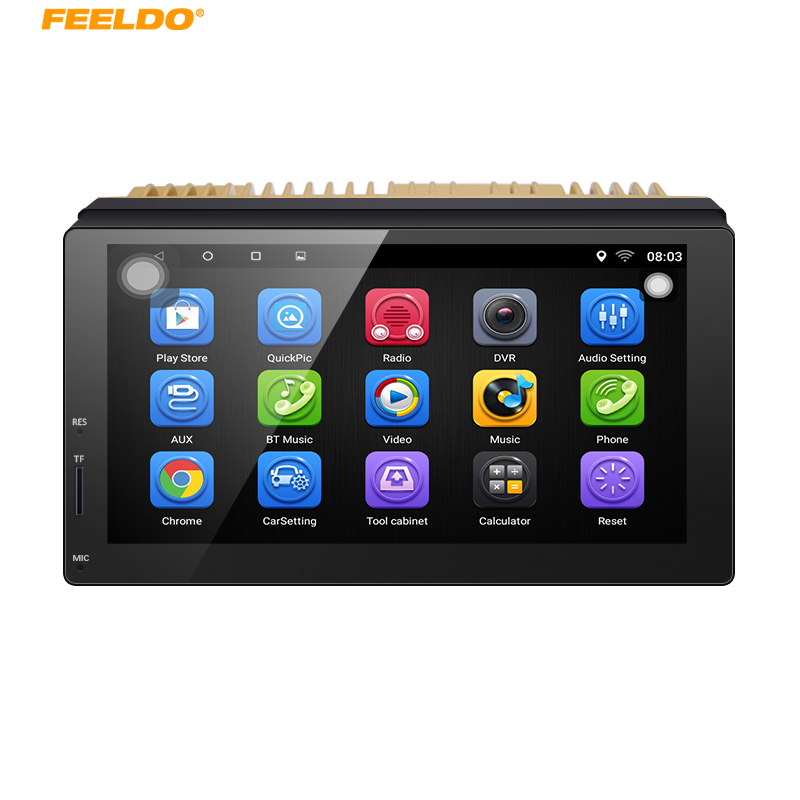 FEELDO 7 Android 6.0 Quad Core 7inch Ultra Slim Car Media Player With GPS Navi Radio For Nissan/Hyundai 2DIN ISO+Gift #AM5437 2 din car radio mp5 player universal 7 inch hd bt usb tf fm aux input multimedia radio entertainment with rear view camera