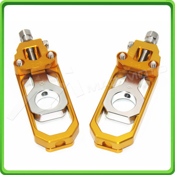 Motorcycle Chain Tensioner Adjuster fit for HONDA CBR 600 RR CBR600RR 2005 2006 Gold & Silver