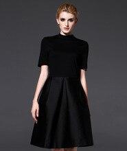 Evening  black O neck Classic Large size fashion dress