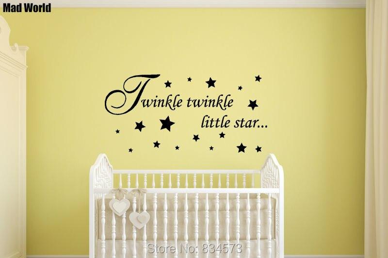Mad World Baby Twinkle Twinkle Little Star Wall Art Stickers Wall ...