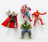 4 Pcs/lot Captain America Iron Man Cartoon Characters 3D Fridge Magnets Tourism Souvenirs Refrigerator Magnetic Stickers