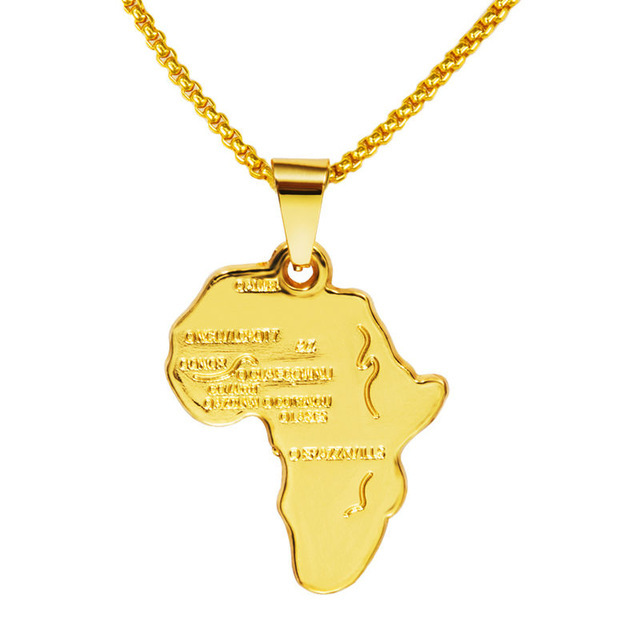 2016 wholesale african map necklaces pendants golden men women iced 2016 wholesale african map necklaces pendants golden men women iced out charm africa chains hip hop jewelry gifts in pendant necklaces from jewelry aloadofball Images