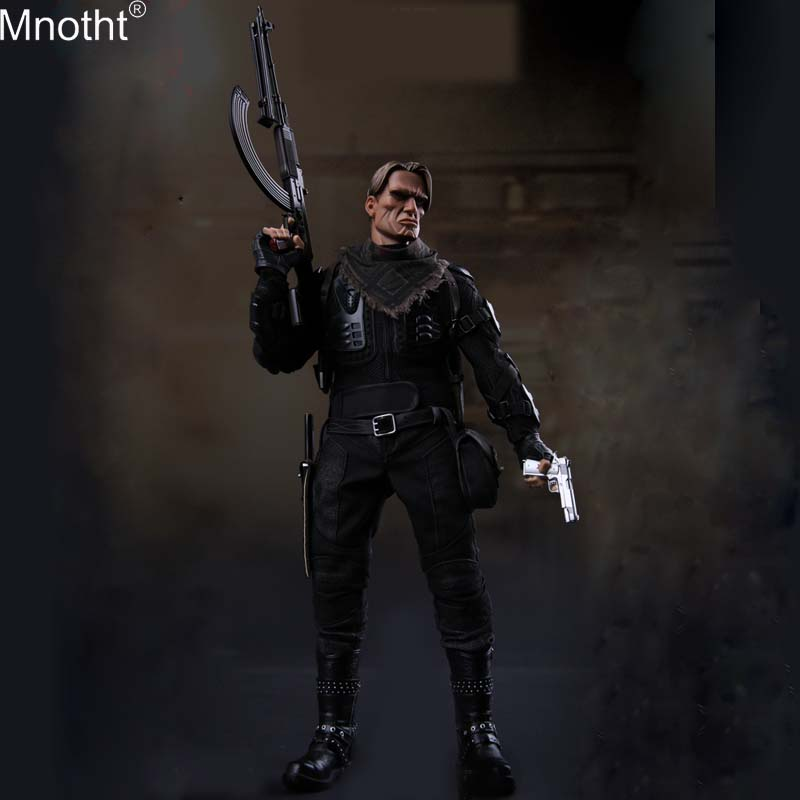 Mnotht GK010 1/6 <font><b>Gangster</b></font> <font><b>Kingdom</b></font> Block 4 Milevskiy Long Ge Black Suit Set Model Clothes Toy for 12in Soldier Action Figure m3n image