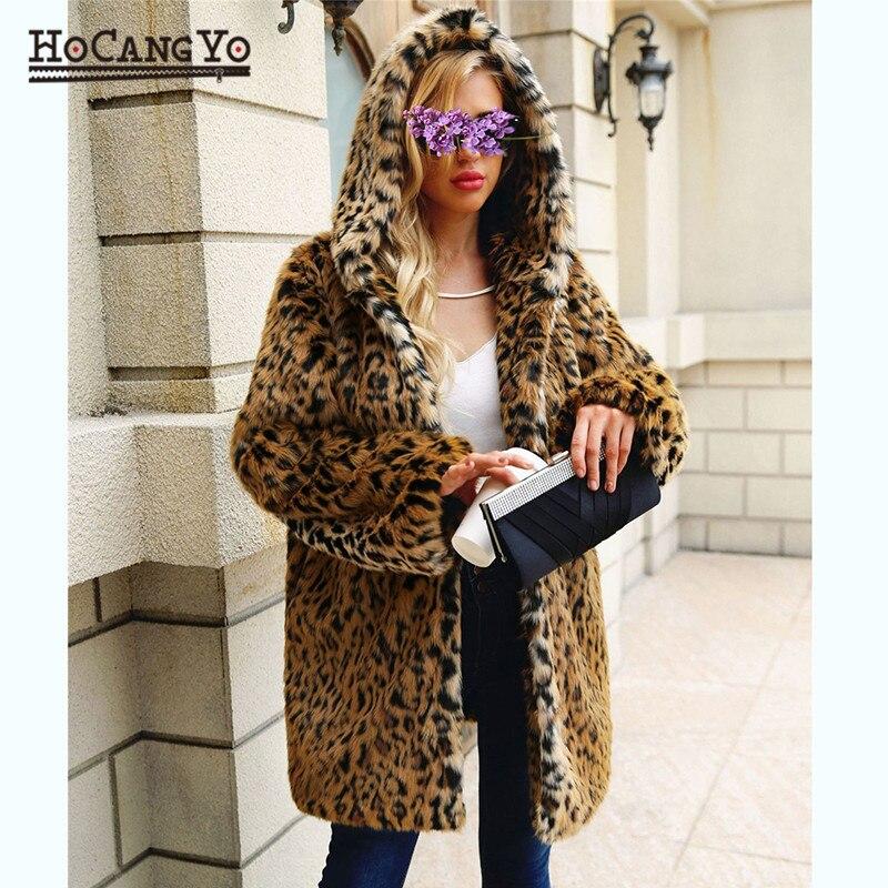 De Fourrure À Leopard Capuche Fausse Outwear Et Hcyo Manteau Automne Manteaux Peluche Femme Femmes Chaud Léopard Hiver En Doux Vestes XYBqwI