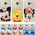 Minnie Mickey Duck Phone Back Case Cover For Samsung Galaxy J3 J5 J7 A3 A5 2016 2015 Grand Prime G530 S4 S5 Mini S6 S7 Edge