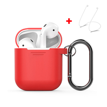 Silicone Case for Apple AirPods Shock Proof Skin Cover Protector Sleeve for Airpods True Wireless Earphone Accessories with Hook