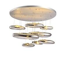 Светодиодный потолочный светильник современный европейский Nordic творчества современный Гостиная Ресторан жидкости ртуть покрытием мяч Стекло простой блеск