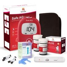 Sinocare Safe AQ Blood Glucose Meter Glucometer &100 Test Strips Lancets Medical Blood Sugar Monitor for Diabetes все цены