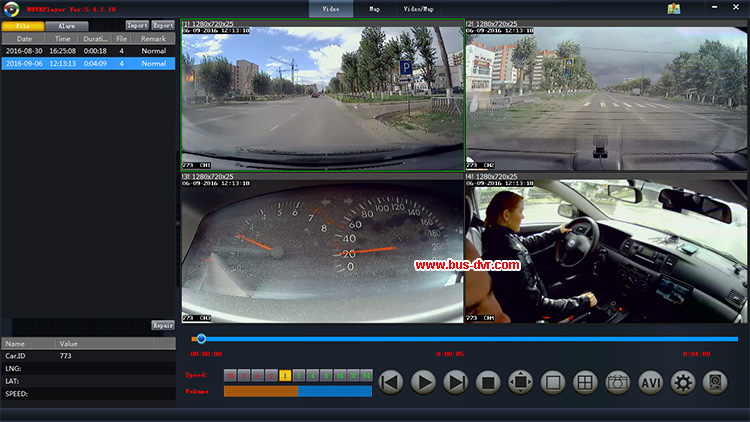 Promotion Inexpensive 4CH 720PDVR Car DVR Mobile DVR With 4pcs Car Camera For Russia