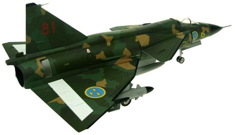 Fine rare AV72 1/72 AV7242005 Saab Viggen SH37 15-81 Swedish Air Force Soderhamn 1990 Alloy aircraft model Collection model