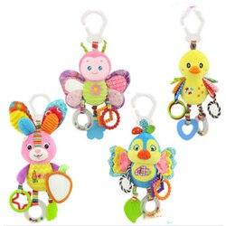 Baby Tier Rasseln Spielzeug Kinder Weiche Schmetterling/Vogel/Plüsch Spielzeug Beißring Mit Sounds Infant Kinderwagen/Bett/ krippe Hängen Spielzeug SA890977