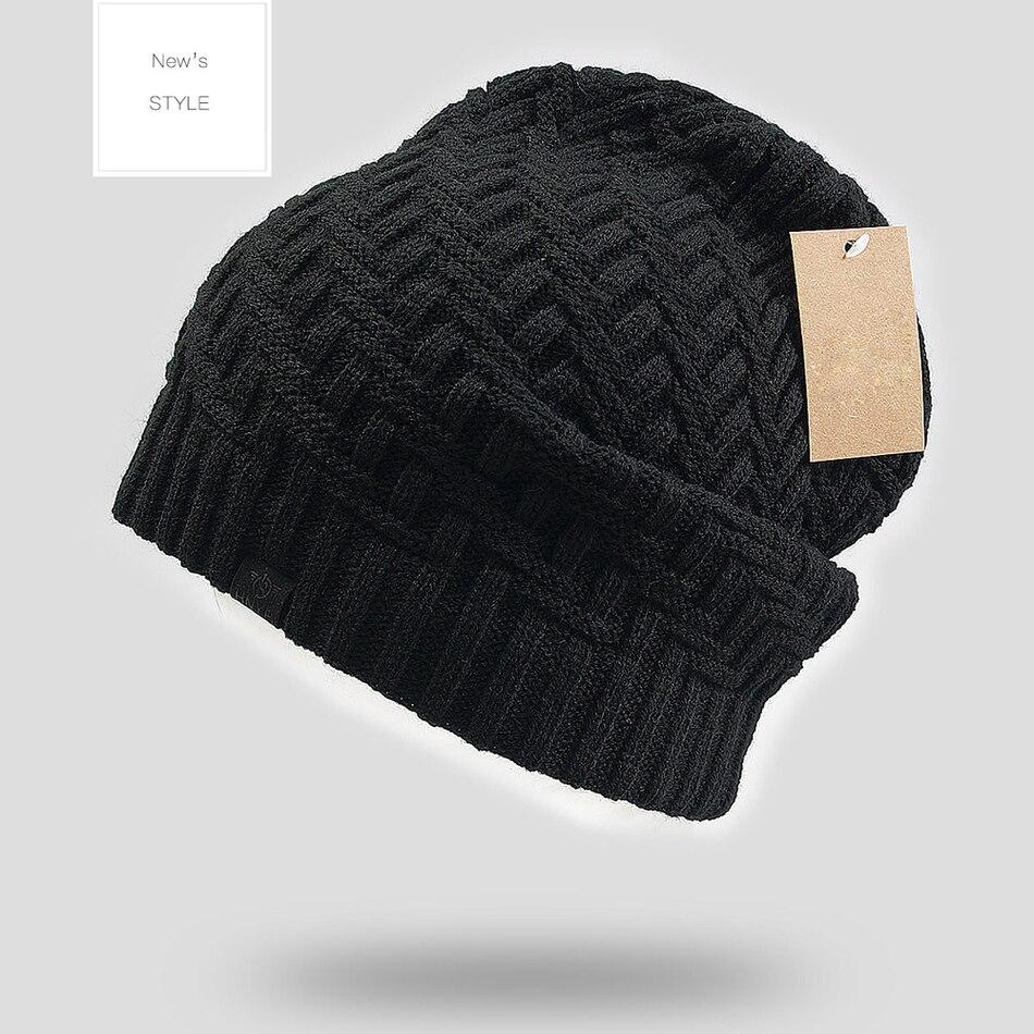 2016 New Arrival Men's Winter Hat 3 Colors Availavle Knitted Free Size Beanies Plus Wool Earflap Cap Women Dress YF101004