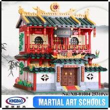 EN STOCK XINGBAO 01004 2531 Unids Genuino de Construcción Creativa Serie de Las Artes Marciales Chinas Juego de Bloques de Construcción Ladrillos Juguetes Modelo