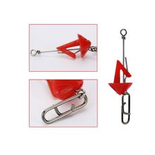 5 Pcs/pack Quick Decoupling Simple Plastic Red Umbrella Shape Metal Decoup Gadget Fishing Accessories