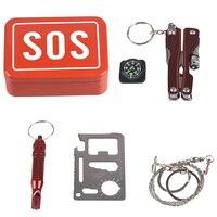 1 комплект наружное аварийно-спасательное оборудование для походов аварийно-спасательный комплект самопомощи коробка SOS для кемпинга пеше...