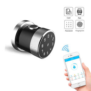 YOHEEN Bluetooth Round Knob Smart Lock Electronic Fingerprint RFID Digital Code App Wifi Door Lock for Home Appartment Office