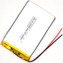 10 sztuk 3.7V 2500 mAh 405080 akumulator litowo-polimerowy Li Po ion Li dla GPS LED z Bluetooth zabawki MP3 MP4 045080