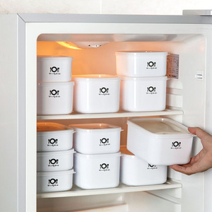 Vanzlife plastic refrigerator fruit crisper microwave oven lunch box rectangular small lunch box food storage box(China)
