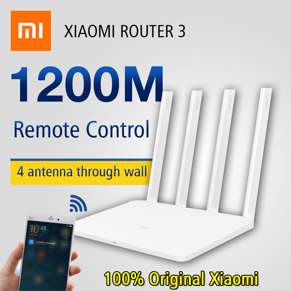 Original Xiaomi WiFi Router 3 English Firmware Version 1167 Mbps Wi-Fi  Routers 2 4G/5GHz WiFi Repeater Portable Wifi Router