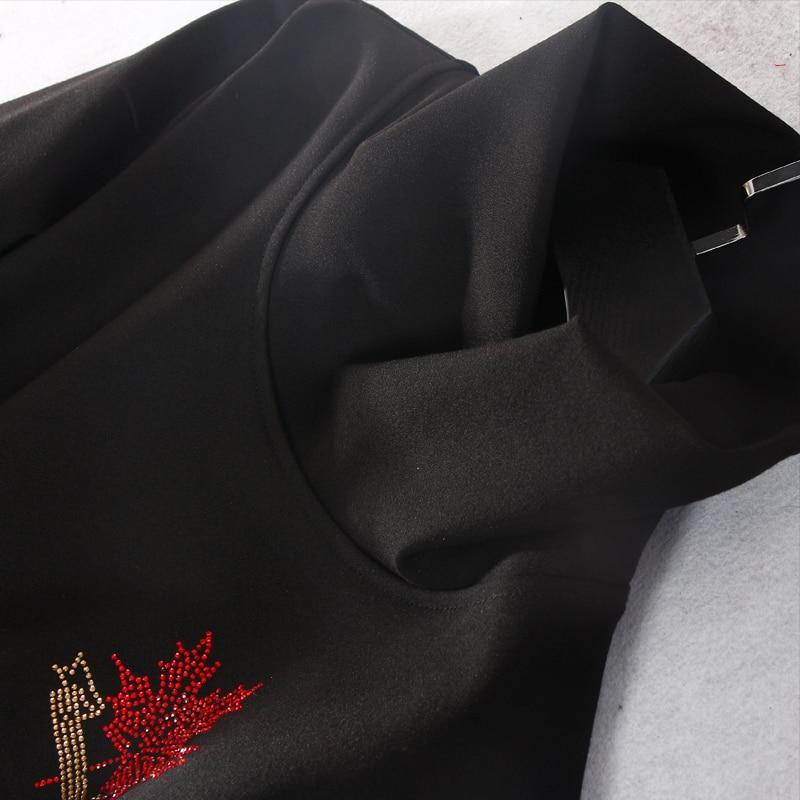 Delle Una Nuovo Linea Naturale Diamanti Solida Polso Inverno 2018 L Arrivo Black Dolcevita Manica Ginocchio lunghezza Donne 3xl Da Vestito Samgpilee Casual Xw8n0PkNO