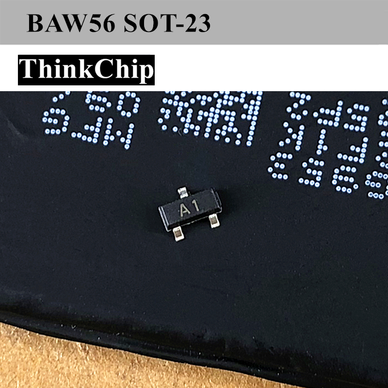 Free Shipping 100pcs/lot BAW56 SOT-23 SMD Small Signal Fast Switching Diodes 200mA 70V (Marking A1)