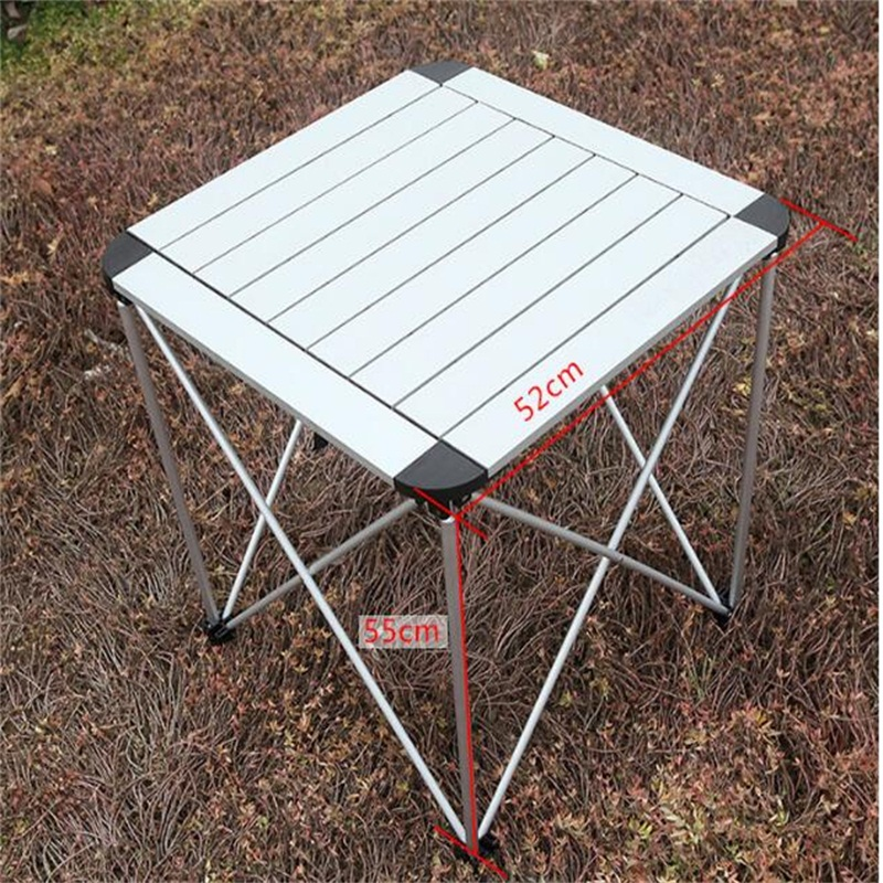 52*52*55CM Aluminum Alloy Folding Table Portable Outdoor Camping Table Barbecue Table Ultra-Light Picnic Desk Advertising Desk aluminum alloy magic folding table blue black bronze color poker table magician s best table stage magic illusions accessory